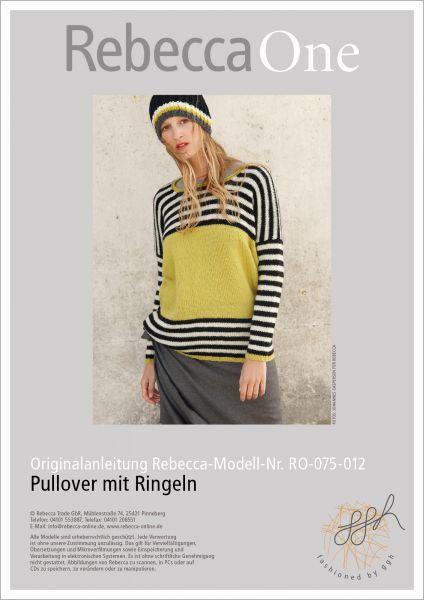 Strickanleitung - Pullover mit Ringeln