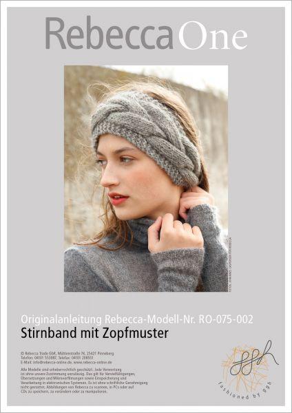 Strickanleitung - Stirnband mit Zopfmuster